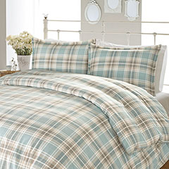 Laura Ashley Cranbourne Plaid Flannel Duvet