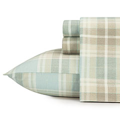 Laura Ashley Cranbourne Plaid Flannel Sheet Set