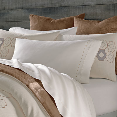 Kevin O'Brien Cream Embroidered Sheets