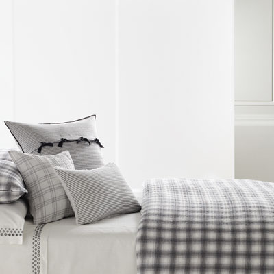 Vera Wang Crinkle Plaid Duvet Cover