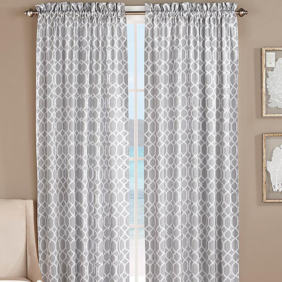 Tommy Bahama Catalina Trellis Pelican Grey Window Drapes