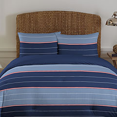 Danbury Stripe Blue Comforter Set