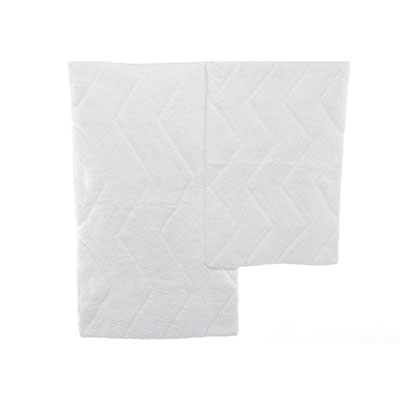 Nautica Deck White Chevron Bath Rug Set
