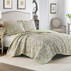 Laura Ashley Delia Neutral Quilt Set