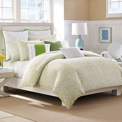 Nautica Delwood Green Comforter & Duvet Sets