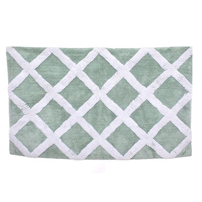 Laura Ashley Diamond Trellis Duck Egg Bath Rug