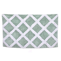Diamond Trellis Duck Egg Bath Rug