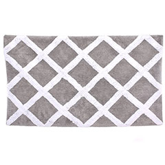 Diamond Trellis Gray Pearl Bath Rug