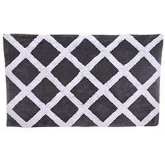 Diamond Trellis Sterling Bath Rug