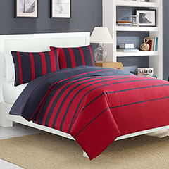 Nautica Dillon Red Duvet Set