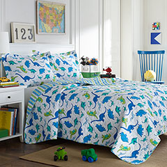 Laura Ashley Dinosaurs Quilt Set