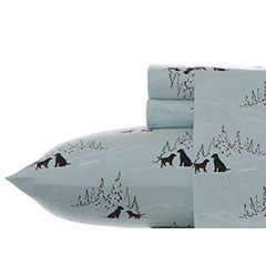 Dog Friends Flannel Sheet Set
