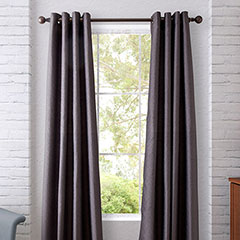 Heritage Landing Dot Chevron Steel Grey Window Treatment