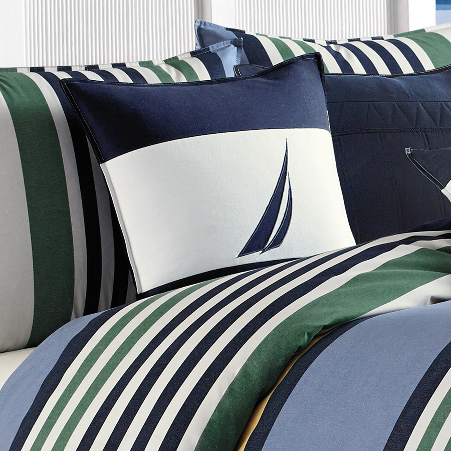 Nautica Dover Blue Comforter And Duvet Set From