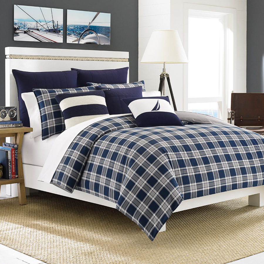 Full Queen Comforter Set Nautica Eddington