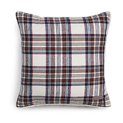 Eddie Bauer Edgewood Plaid Navy Flannel Decorative Pillow