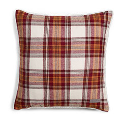 Eddie Bauer Edgewood Plaid Red Flannel Decorative Pillow