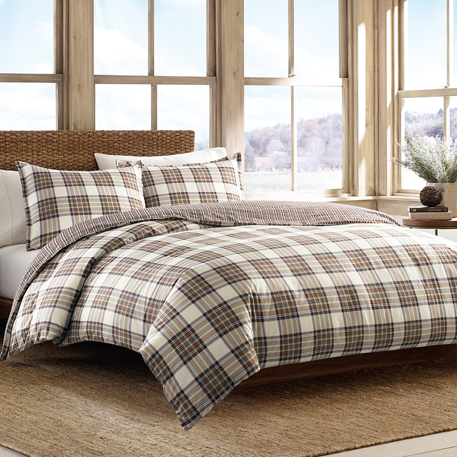 Twin Duvet Set Eddie Bauer Edgewood Plaid