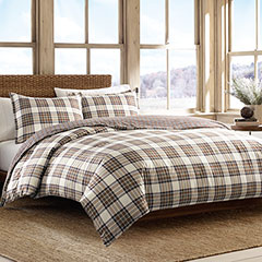 Eddie Bauer Edgewood Plaid Khaki Duvet Set