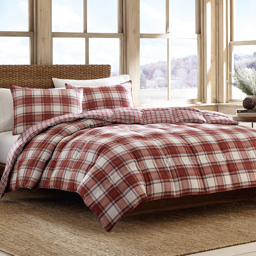 King Comforter Set Eddie Bauer Edgewood Plaid