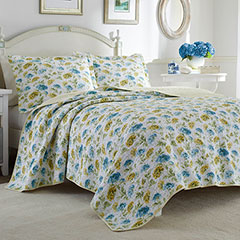 Laura Ashley Edwina Sunblue Quilt Set