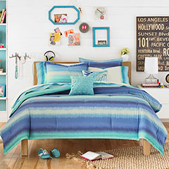 Teen Vogue Electric Beach Blue Comforter Set