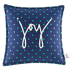 Square Pillow Embroidered Joy Dot