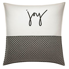 ED Ellen DeGeneres Square Pillow Embroidered Joy