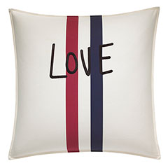 ED Ellen DeGeneres Square Pillow Embroidered Love
