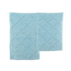 English Garden Sky Blue Bath Rug Set
