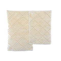 English Garden Cream Bath Rug Set