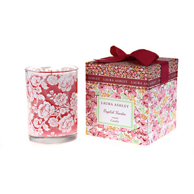 Laura Ashley English Garden Gift Boxed Candle