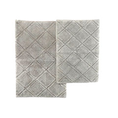 English Garden Gray Pearl Bath Rug Set
