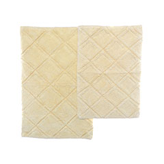 English Garden Yellow Bath Rug Set