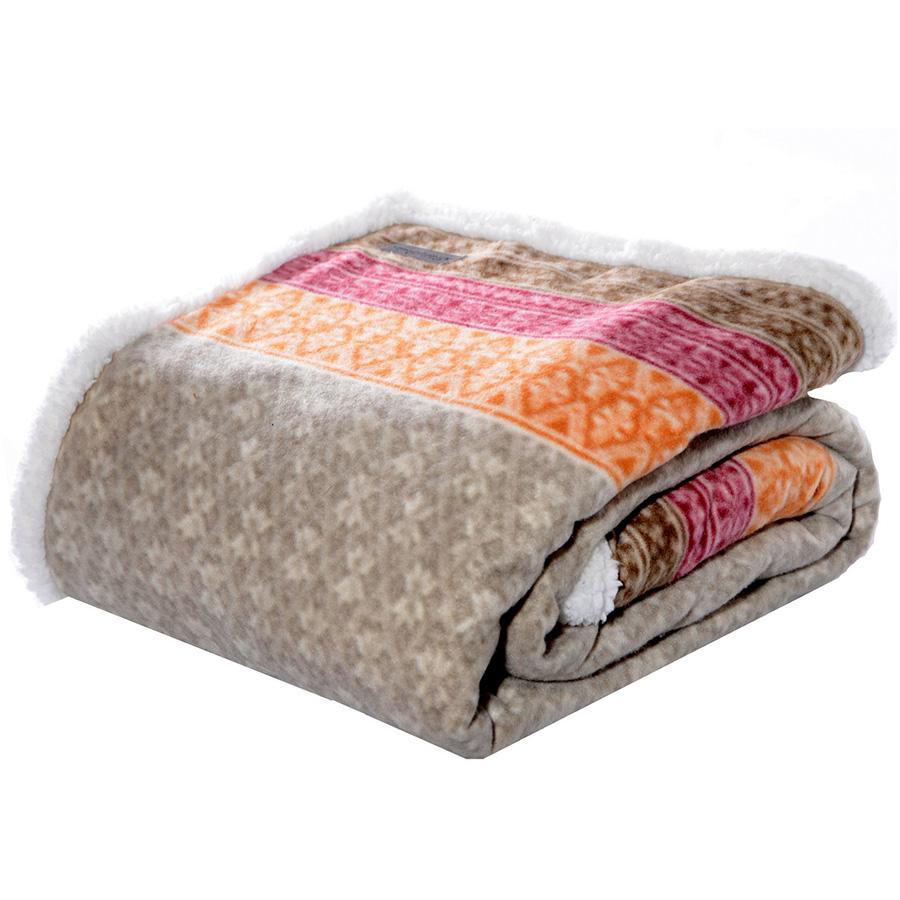 Throw Blanket Eddie Bauer Fairisle Khaki