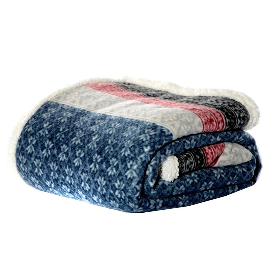 Throw Blanket Eddie Bauer Fairisle Navy