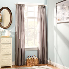 Stone Cottage Faux Silk Charcoal Gray Window Drapes