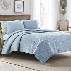 Laura Ashley Felicity Breeze Blue Quilt Set