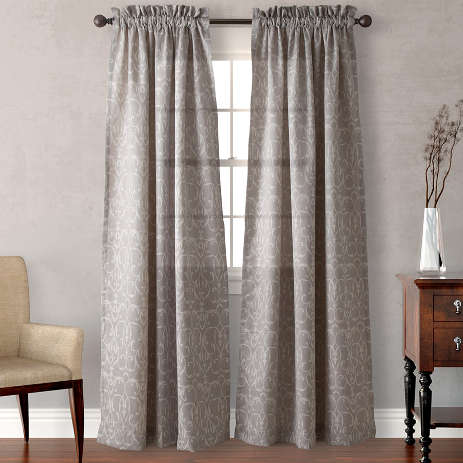 Pair of Drapes 54 x 84 Heritage Landing Filigree Scroll