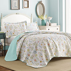 Laura Ashley Fish Frolic Quilt Set