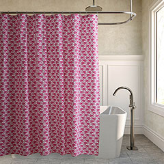 Poppy & Fritz Flamingos Shower Curtain