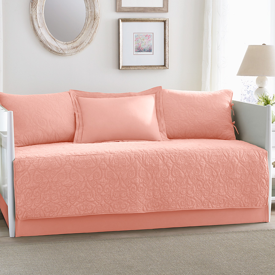Laura Ashley Bedding For Daybeds : Laura ashley felicity coral daybed set from beddingstyle