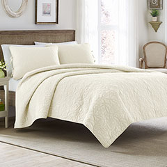Laura Ashley Felicity Ivory Quilt Set