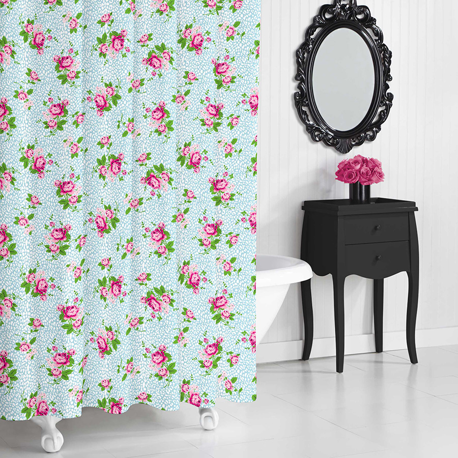 Shower Curtain Betsey Johnson Floral Leopard
