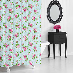 Betsey Johnson Floral Leopard Shower Curtain