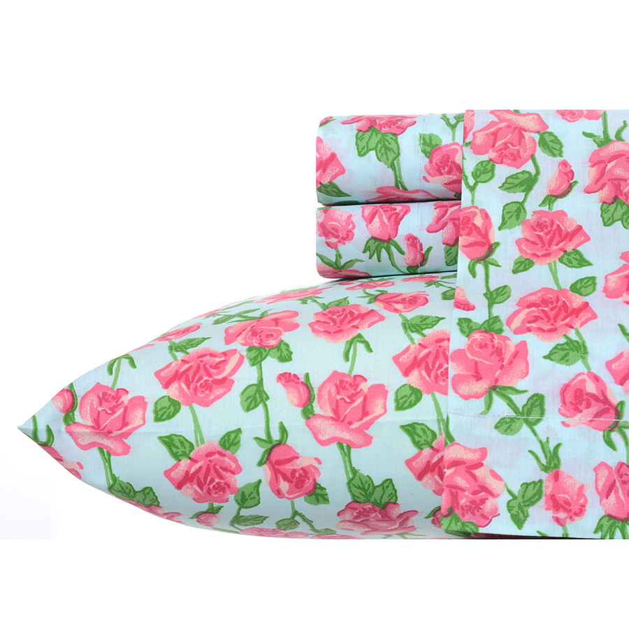 Betsey Johnson Floral Vine Sheet Set From