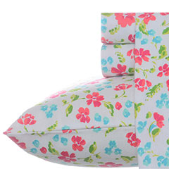 Teen Vogue Floral Field Flannel Sheet Set