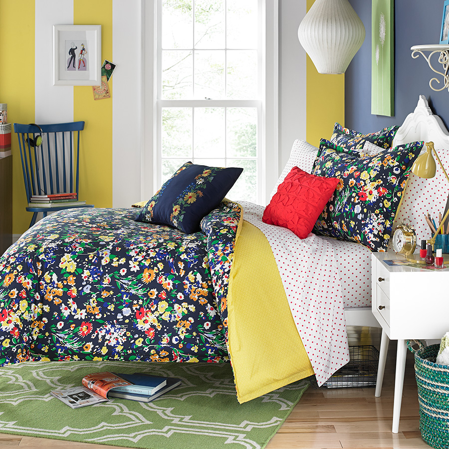 Teen vogue folksy floral bedding collection from - Bedspreads for teenagers ...