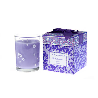 Laura Ashley Fresh Lavender Gift Boxed Candle