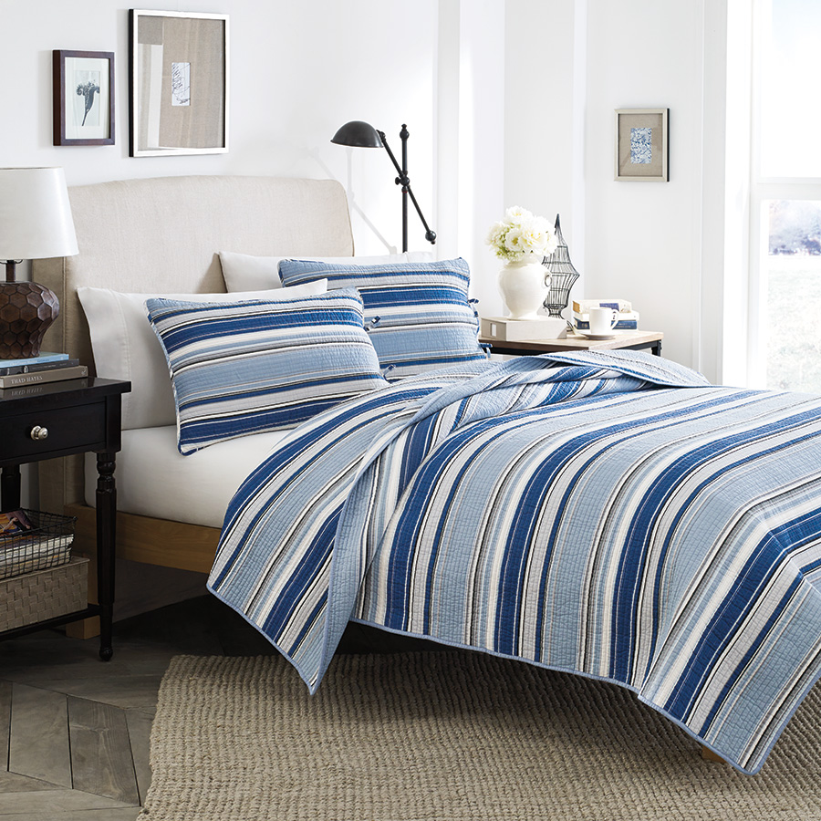 Twin Quilt Set Stone Cottage Fresno Blue